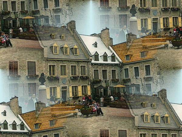 Painting - Romantic Quebec City Collage by Peter Potter