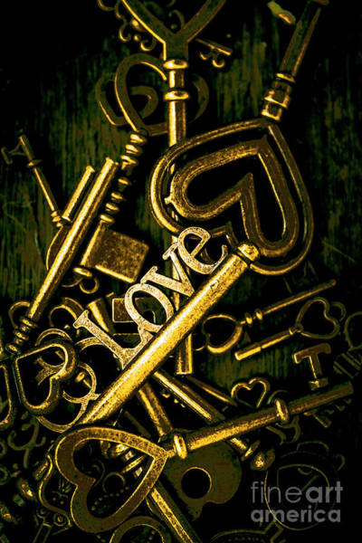 Tryst Wall Art - Photograph - Romantic Still Life Keys In Sentiments Of Love by Jorgo Photography - Wall Art Gallery
