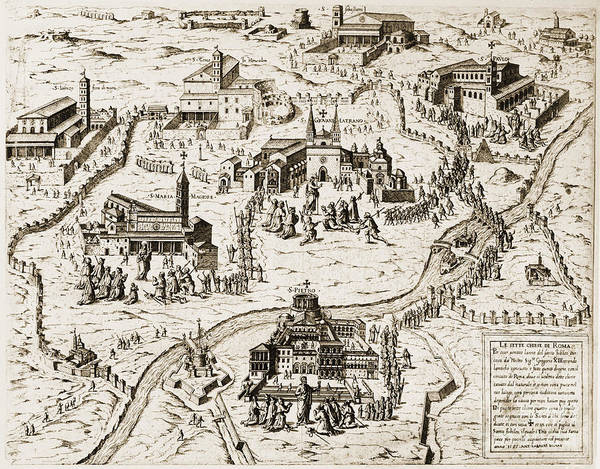 Photograph - Rome: Churches, 1575 by Granger