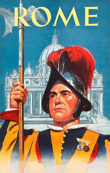Tradition Painting - Rome, City Guard, Palace by Long Shot