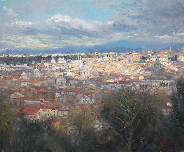 Rome Painting - Rome Da Giannicolo - 2016 by Ylli Haruni