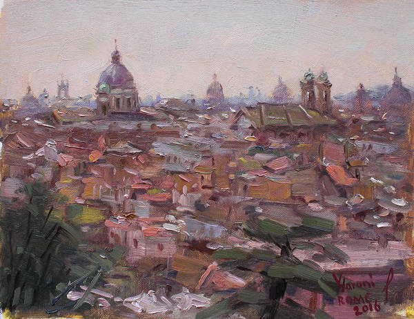 Wall Art - Painting - Rome Da Pincio by Ylli Haruni