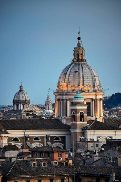 Photograph - Rome Dome by Songquan Deng