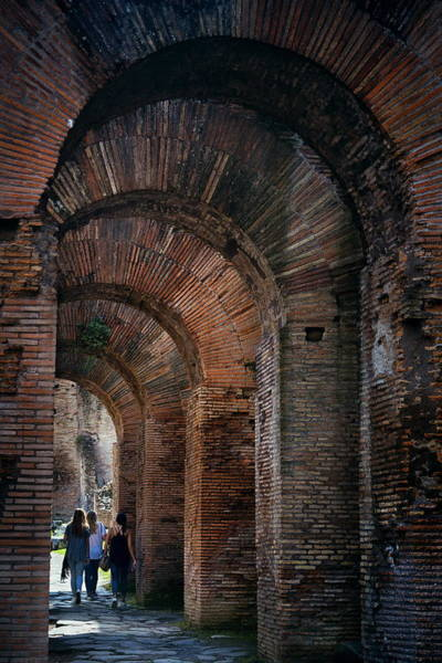 Photograph - Rome Forum Archway by Songquan Deng