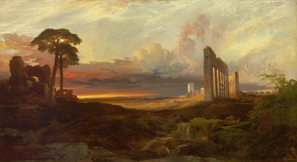 1837 Painting - Rome From The Campagna Sunset by MotionAge Designs