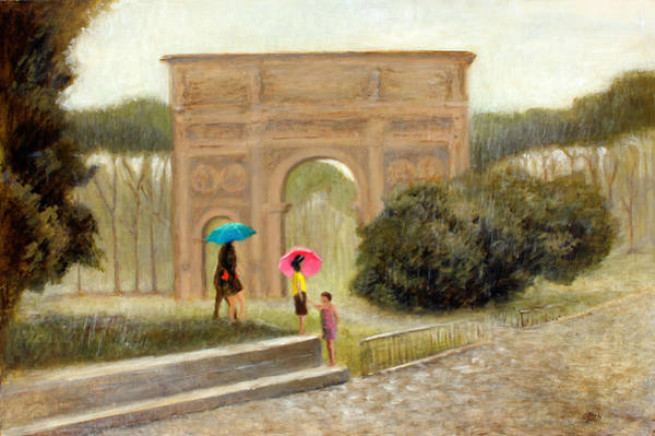 Wall Art - Painting - Rome In The Rain by Christy Olsen