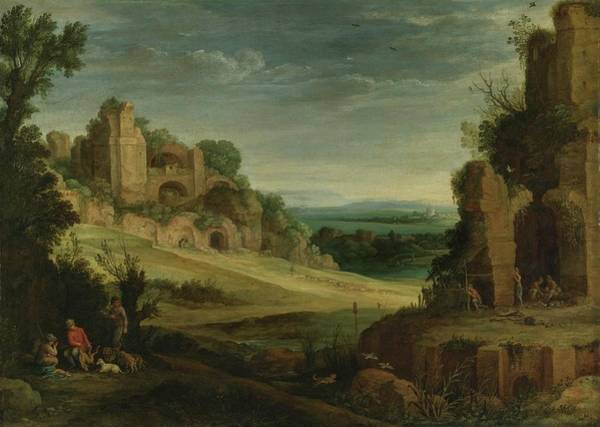 Circa Painting - Rome Landscape With A Hunting Party And Roman Ruins by MotionAge Designs