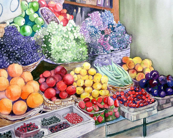Painting - Rome Market by Lynne Atwood