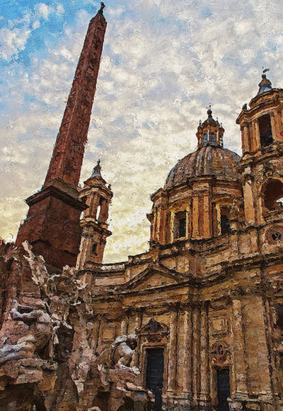 Painting - Rome, Piazza Navona - 02 by Andrea Mazzocchetti