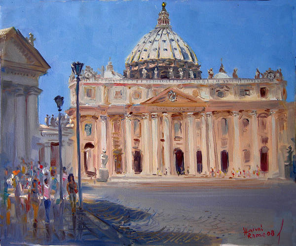 Rome Painting - Rome Piazza San Pietro by Ylli Haruni