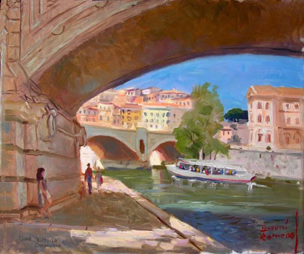 Wall Art - Painting - Rome Ponte Vittoria Emanuele by Ylli Haruni