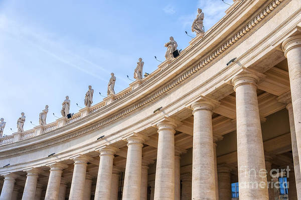 Saint Peters Square Photograph - Rome Saint Peters Colonnade by Antony McAulay