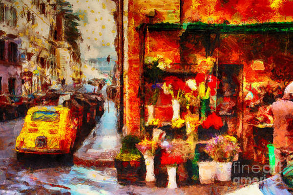Impasto Photograph - Rome Street Colors by Stefano Senise
