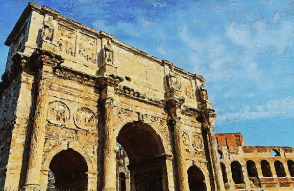 Painting - Rome - The Arch Of Constantine - 05 by Andrea Mazzocchetti