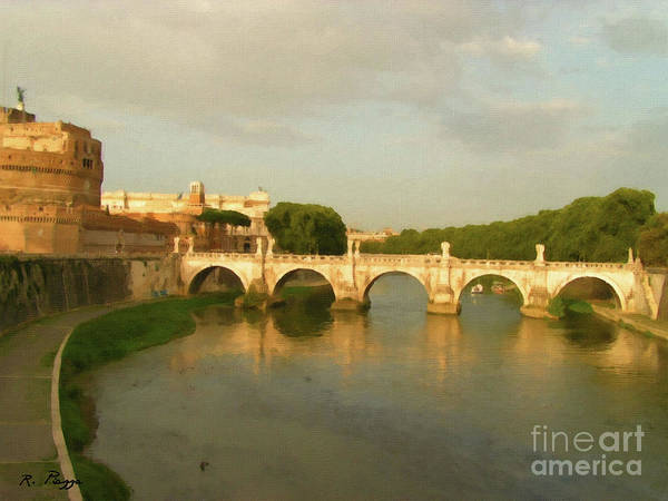 Rome The Eternal City And Tiber River Art Print