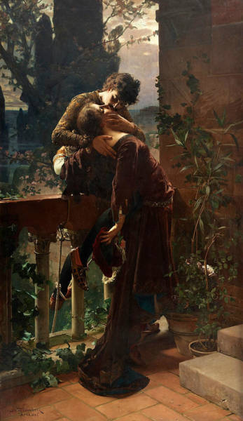 Swedish Painters Wall Art - Painting - Romeo And Juliet On The Balcony by Julius Kronberg