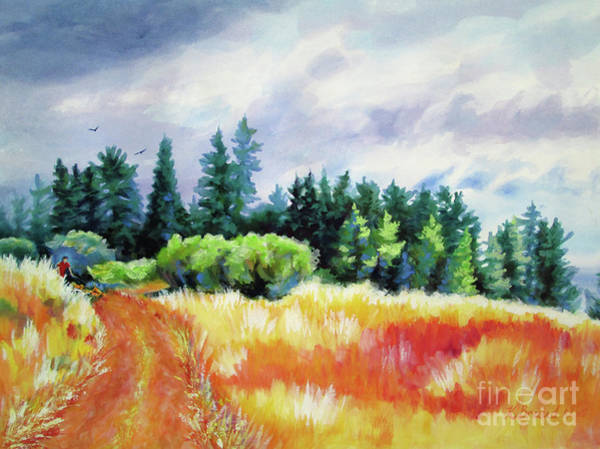 Wall Art - Painting - Romp On The Hill by Kathy Braud