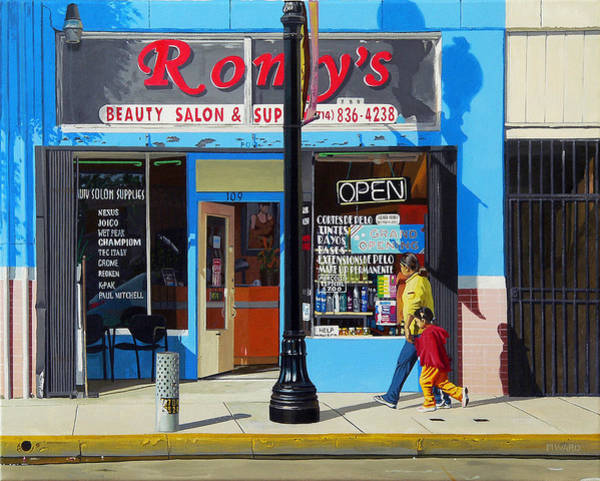Beauty Salon Painting - Romy's by Michael Ward