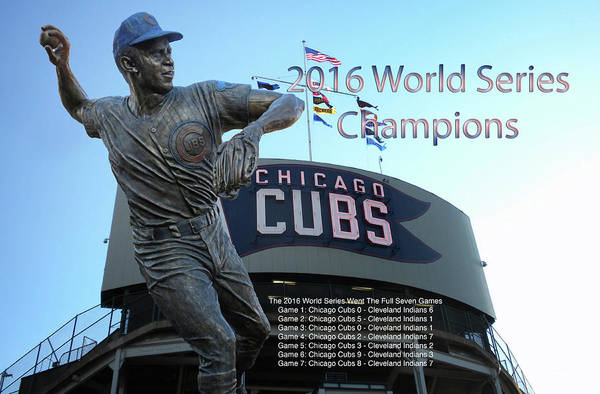 Wall Art - Photograph - Ron Santo Chicago Cubs World Series Signage by Thomas Woolworth