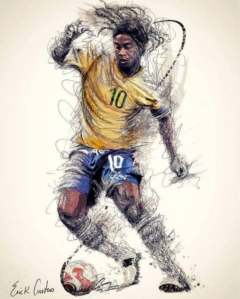 Wall Art - Digital Art - Ronaldinho by Fernando Lara