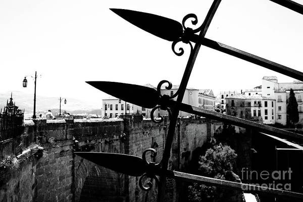 Montain Photograph - Ronda Black And White by Jackie Mestrom