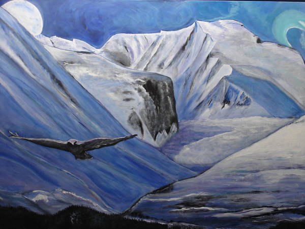 Norsk Painting - Rondane Mountains by Annette Steens