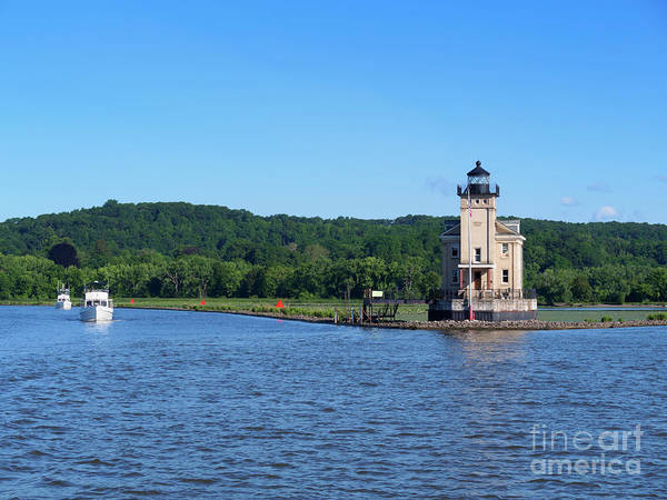 Wall Art - Photograph - Rondout Lighthouse On The Hudson River New York by Louise Heusinkveld