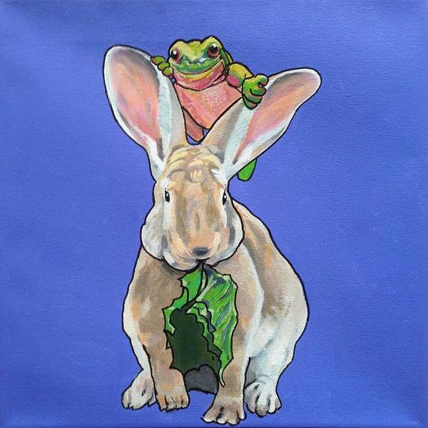 Painting - Ronnie The Rabbit by Sharon Cromwell