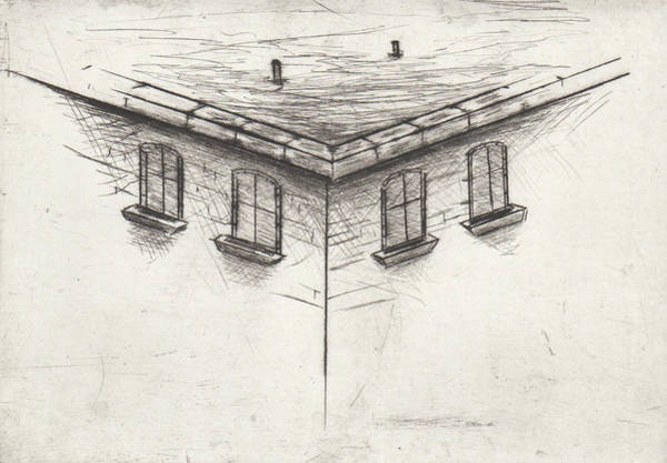 Drawing - Roof Study by Erik Paul