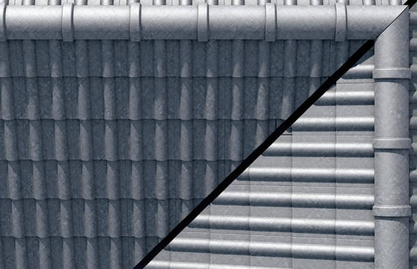 Clay Digital Art - Roof Tiles Design Top by Allan Swart