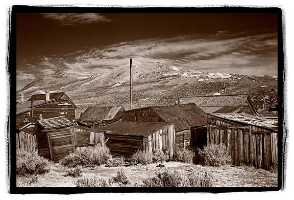 Bodie Ghost Town Wall Art - Photograph - Rooflines Bodie Ghost Town by Steve Gadomski