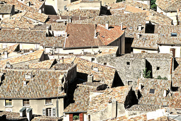 Photograph - Roofs Of Provence by Kim Lessel