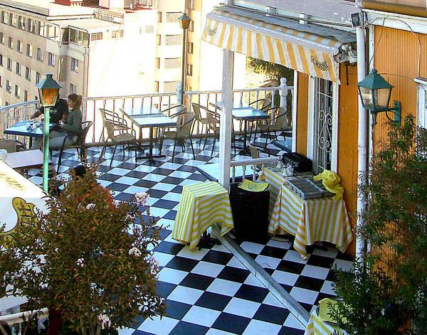 Photograph - Rooftop Cafe by Karen Zuk Rosenblatt