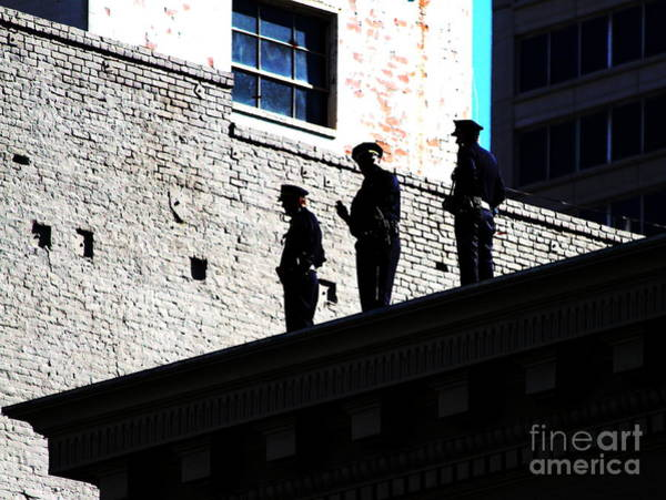 First Officer Photograph - Rooftop Cops by Wingsdomain Art and Photography