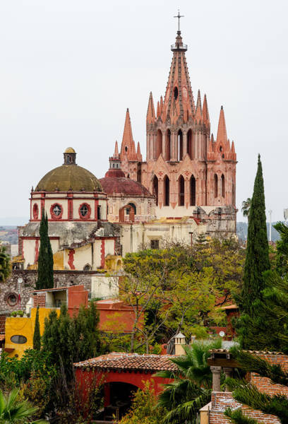 Rights-managed Wall Art - Photograph - Rooftop View Of La Parroquia De San Miguel Arcangel by Rob Huntley