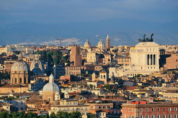 Photograph - Rooftop View Of Rome by Songquan Deng