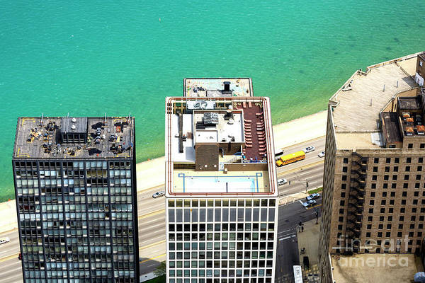 Wall Art - Photograph - Rooftops In Chicago by John Rizzuto