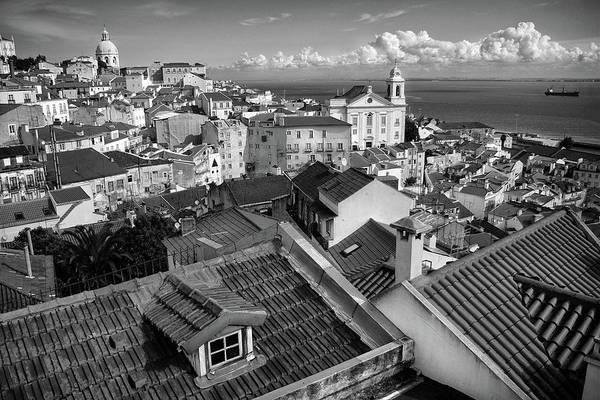 Wall Art - Photograph - Rooftops Of Alfama In Lisbon by Carlos Caetano
