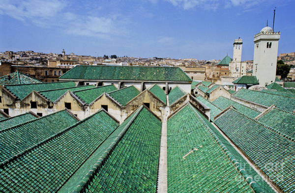 Wall Art - Photograph - Rooftops Of The Buildings And Mosque Of The University Of Al-karaouine by Sami Sarkis