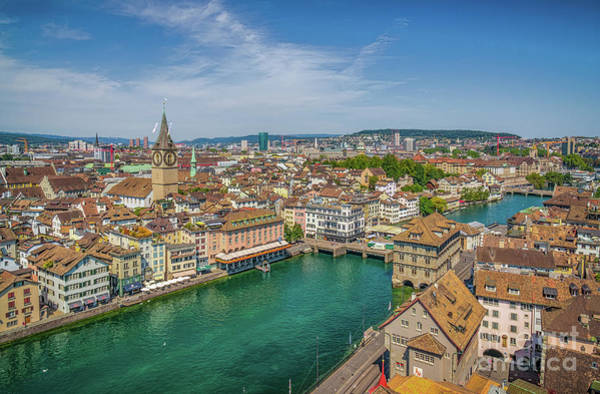 Zuerich Wall Art - Photograph - Rooftops Of Zurich by JR Photography