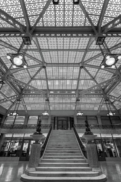 Wall Art - Photograph - Rookery Building Lobby Bw by Steve Gadomski