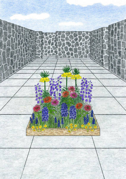 Beautiful Park Drawing - Room by Kathy Pullen