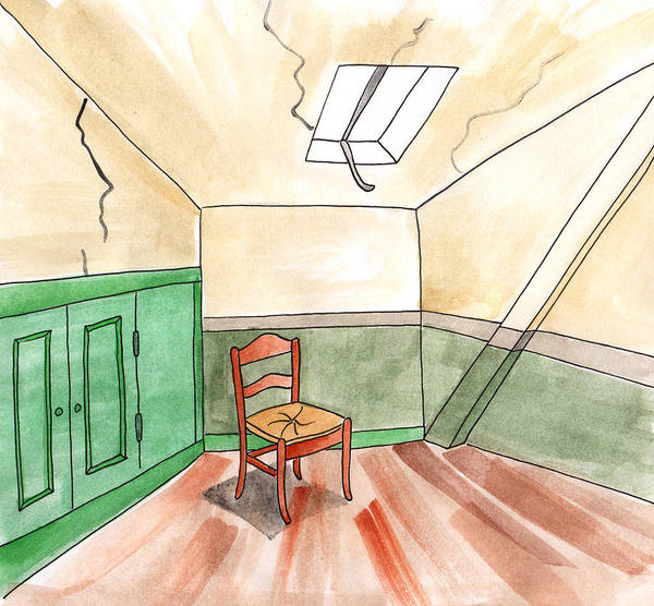 Painting - Room Of Vincent Van Gogh by Anna Elkins