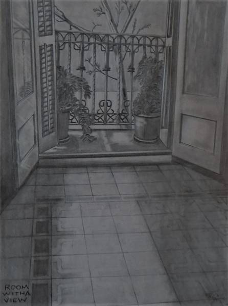 Drawing - Room With A View by Chuck Caputo
