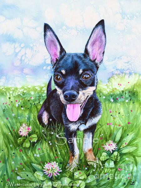 Lucky Clover Painting - Rooney by Zaira Dzhaubaeva