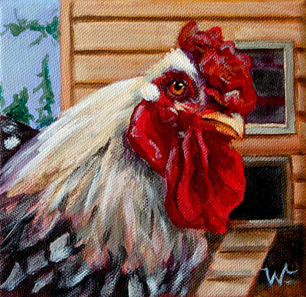Roost Painting - Roopert by Pattie Wall