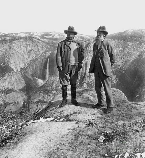 Turn Of The Century Wall Art - Photograph - Roosevelt & Muir by Granger