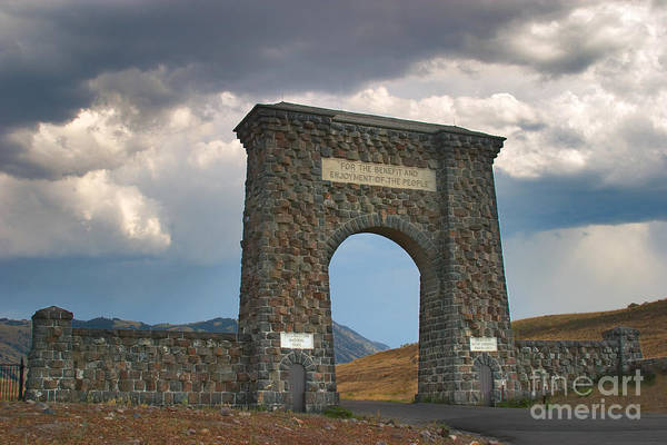 Photograph - Roosevelt Arch -- Welcome To Yellowstone National Park by Charles Kozierok