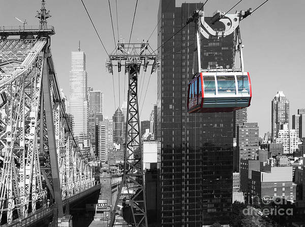 Aerial Tramway Wall Art - Photograph - Roosevelt Island Tramway by Millie Reeve