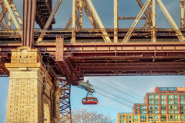 Roosevelt Island Wall Art - Photograph - Roosevelt Tram Underneath The 59 St Bridge by Susan Candelario